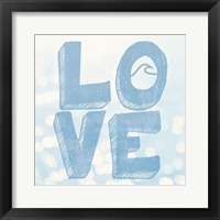 Framed Beach Love