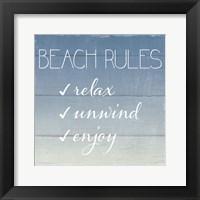 Beach Rules Framed Print