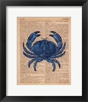 Vintage Crab Framed Print
