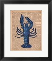 Framed Vintage Lobster