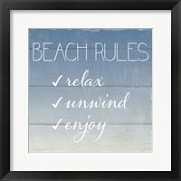 Framed Beach Rules