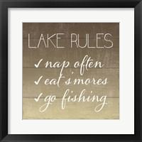 Lake Rules Framed Print