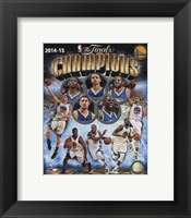 Framed Golden State Warriors 2015 NBA Finals Champions Composite