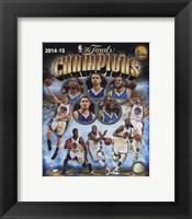 Framed Golden State Warriors 2015 NBA Finals Champions Composite