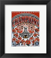 Framed Chicago Blackhawks 2015 Stanley Cup Champions Composite