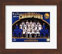 Framed Golden State Warriors 2015 NBA Finals Champions Team Sit Down Photo