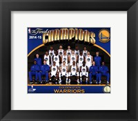 Framed Golden State Warriors 2015 NBA Finals Champions Team Sit Down Photo