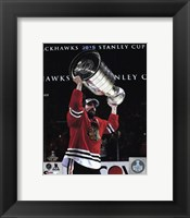 Framed Patrick Sharp with the Stanley Cup Game 6 of the 2015 Stanley Cup Finals