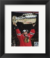 Framed Jonathan Toews with the Stanley Cup Game 6 of the 2015 Stanley Cup Finals