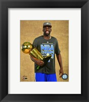 Framed Draymond Green with the NBA Championship Trophy Game 6 of the 2015 NBA Finals