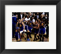 Framed Golden State Warriors celebrate winning Game 6 of the 2015 NBA Finals