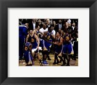 Framed Golden State Warriors celebrate winning Game 6 of the 2015 NBA Finals