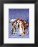 Framed Saint Nicholas And The Children