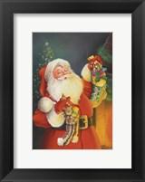 Framed Santa Hanging The Stockings