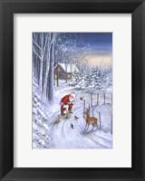 Framed Santa Along The Way