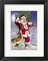 Framed Santa Has The Tree