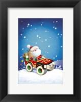 Framed Santa Takes The Car