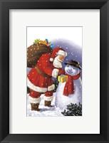 Framed Snowman's Gift