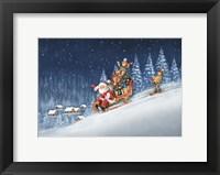 Christmas Ski Trip Framed Print