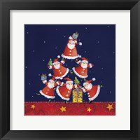 Framed Santas Tipping For One Last Gift