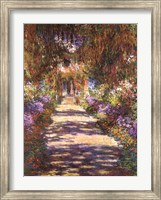 Framed Jardin a Giverny