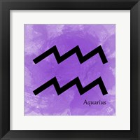 Framed Aquarius - Violet