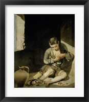 Framed Young Beggar