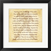Aquarius Character Traits Framed Print