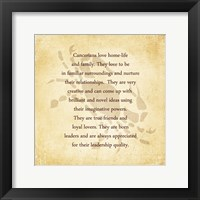 Cancer Character Traits Framed Print