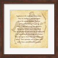 Framed Sagittarius Character Traits