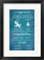 Framed Capricorn Zodiac Sign