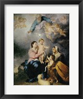 Framed Holy Family, also called the Virgin of Seville