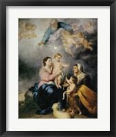 Framed Holy Family, also called the Virgin of Seville
