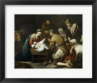Framed Adoration of the Shepherds, 1655-1660