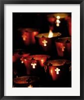 Framed Lighted Candles