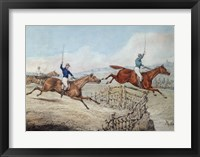 Framed Hunting Scene