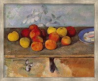 Framed Still life of apples and Biscuits