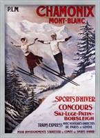 Framed Chamonix Mont-Blanc Sports