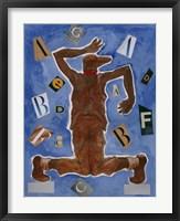 Framed Untitled (Dancer with Glasses)