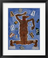 Framed Untitled (Dancer with Glasses)