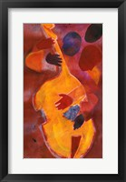 Framed Double Bass, Triple Head