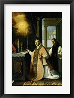 Framed Holy Mass with Priest Cabañuelas. 1638