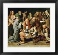Framed Saint Diego of Alcala Feeds the Poor