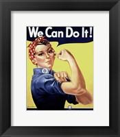 Framed Rosie the Riveter