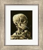 Framed Skull with Burning Cigarette