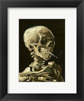 Framed Skull with Burning Cigarette