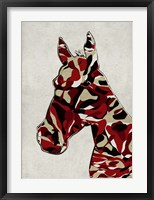 Framed Camouflage Horse