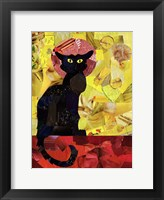 Framed Le Chat Noir