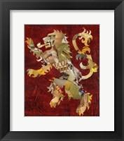 Framed Lion Crest