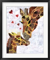 Framed Sweet Giraffes